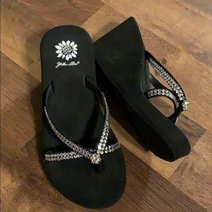 New Yellow Box sandals